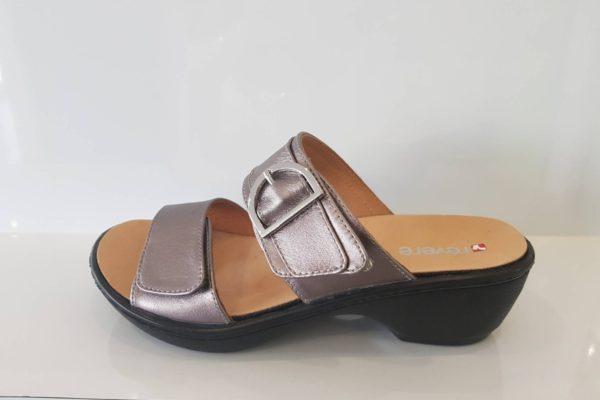 London Gumetal Sandals